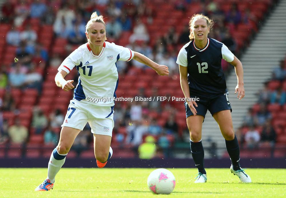 Gaetane THINEY (fra) - Lauren CHENEY (usa), FOOTBALL Womens : France vs United States, London 2012 Olympic Games, 25 July 2012. Photo: Panoramic/photosport.co.nz