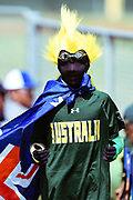 Australian supporter during a match against NZ.<br /> NZ v Australia, BCO U15 Championship. Lloyd Elsmore Park, Pakuranga, Auckland, New Zealand. 20 January 2018. &copy; Copyright Image: Marc Shannon / www.photosport.nz.