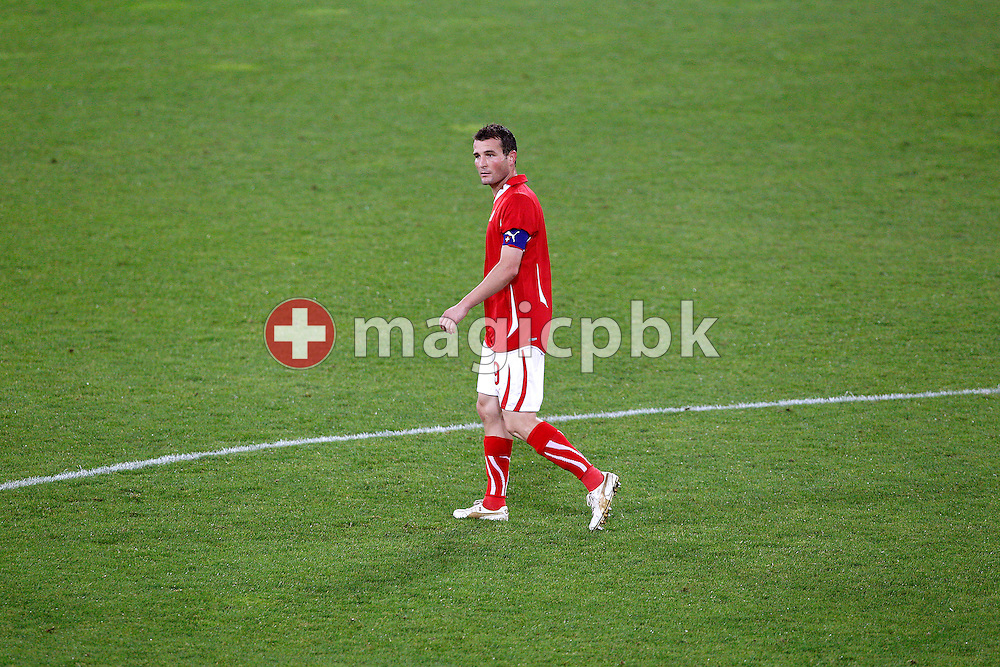 Switzerland's Alexander (Alex) FREI is pictured after he misplayed a penalty during a friendly soccer match between Switzerland and Australia, in St. Gallen, Switzerland, Friday, September 03, 2010. (Photo by Patrick B. Kraemer / MAGICPBK)