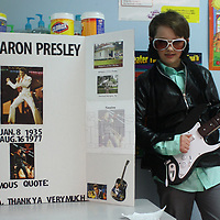 JOHN WARD/BUY AT PHOTOS.MONROECOUNTYJOURNAL.COM<br /> East Amory Elementary School third-grader Noah Moore portrays the King of Rock and Roll, Elvis Presley.
