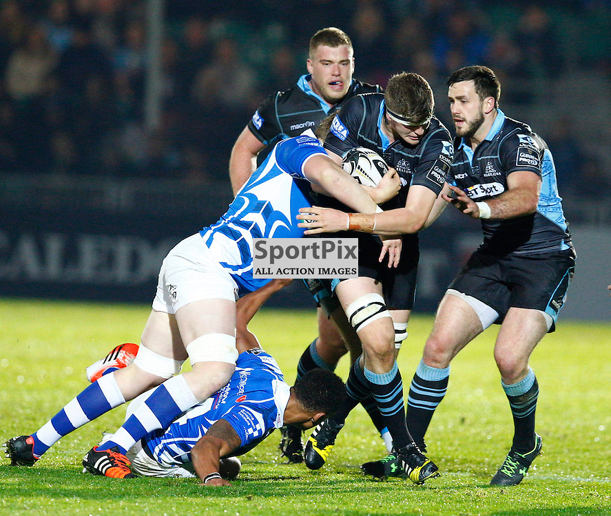 GUINESS PRO 12 - Glasgow Warriors v Dragons....Scott Cummings in action....(c) STEPHEN LAWSON | SportPix.org.uk