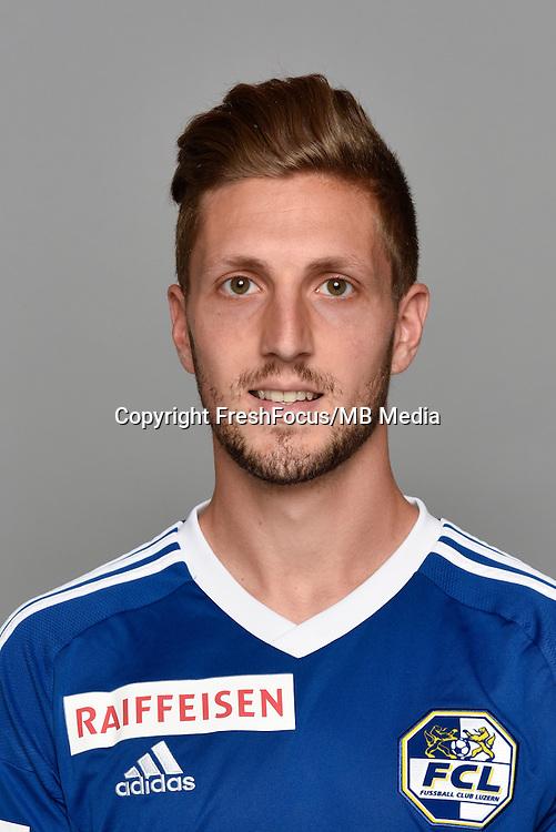15.07.2016; Luzern; Fussball - FC Luzern;<br />Simon Grether (Luzern)<br />(Martin Meienberger/freshfocus)