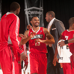 RENO, NV - JANUARY 10:  Xavier Silas #13 greets his teammates after hitting a shot at the end of the first period agains the Sioux Falls Skyforce during the 2012 NBA D-League Showcase inside the Reno Events Center in Reno, Nev., Tuesday, Jan. 10, 2012.  NOTE TO USER: User expressly acknowledges and agrees that, by downloading and or using this photograph, User is consenting to the terms and conditions of the Getty Images License Agreement. Mandatory Copyright Notice: Copyright 2012 NBAE  (Photo by David Calvert/NBAE via Getty Images) *** Local Caption *** Xavier Silas