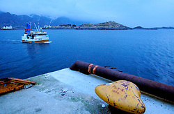 NORWAY LOFOTEN 29MAR07 - Lofoten fishing boat leaving Hennigsvaer harbour at dawn on the Lofoten islands...jre/Photo by Jiri Rezac..© Jiri Rezac 2007..Contact: +44 (0) 7050 110 417.Mobile:  +44 (0) 7801 337 683.Office:  +44 (0) 20 8968 9635..Email:   jiri@jirirezac.com.Web:    www.jirirezac.com..© All images Jiri Rezac 2007 - All rights reserved.