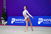 Hudis Veronika during the qualification of the ball at the Pesaro World Cup 2018.<br />