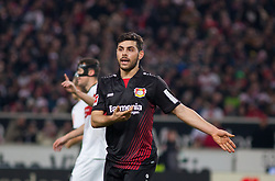 December 8, 2017 - Stuttgart, Germany - Leverkusens Kevin Volland complains about a foul during the Bundesliga match between VfB Stuttgart and Bayer 04 Leverkusen at Mercedes-Benz Arena on December 8, 2017 in Stuttgart, Germany. (Credit Image: © Bartek Langer/NurPhoto via ZUMA Press)