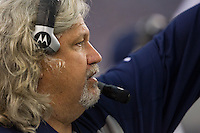 06 November 2011: defensive coordinator Rob Ryan of the Dallas Cowboys coaches against the Seattle Seahawks the Cowboys 23-13 victory over the Seahawks at Cowboy Stadium in Arlington, TX.