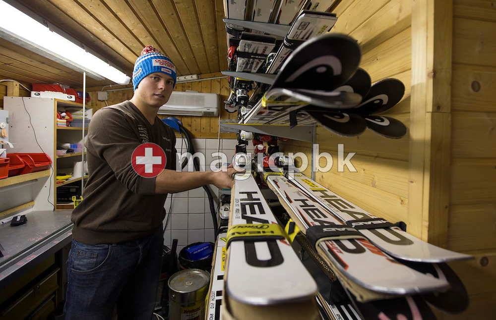 Ralph WEBER of Switzerland is pictured in the waxing room at his parents house in Gossau SG, Switzerland, Thursday, Oct. 18, 2012. (Photo by Patrick B. Kraemer / MAGICPBK)