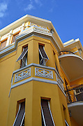 Israel, Tel Aviv, Renovated eclectic building 11 Allenby street Originally built: 1922 designed by Alexander Levy