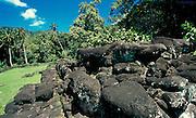 Lavagestein, Hiva Oa, Französisch Polynesien * Lava stones, Hiva Oa, French Polynesia