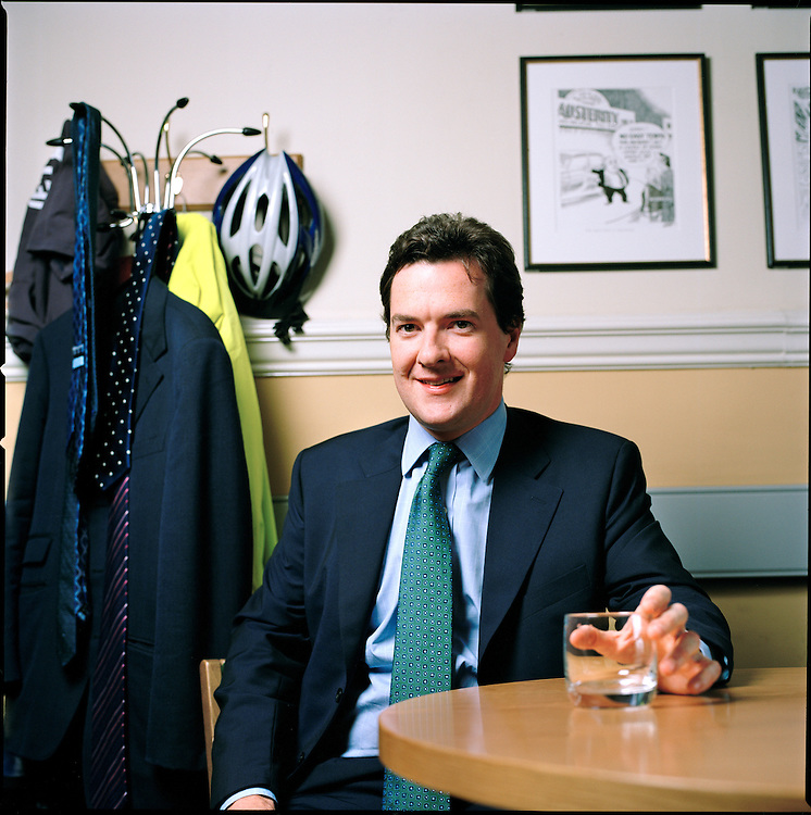 MP George Osborne, the Conservative Chancellor of The Exchequer in his office in Westminster.
