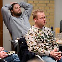 SOESTERBERG -  Bondscoaches  Sjoerd Marijne en Max Caldas   tijdens het Technisch Kader congres 2015 olv Topcoach Koen Gonnissen. COPYRIGHT KOEN SUYK
