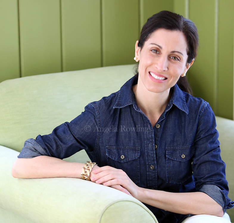 "(Chatham, MA - 3/10/15) Lisa Genova, author of ""Still Alice""  and ""Inside the O'Briens,"" is seen in her home office, Tuesday, March 10, 2015. Staff photo by Angela Rowlings."
