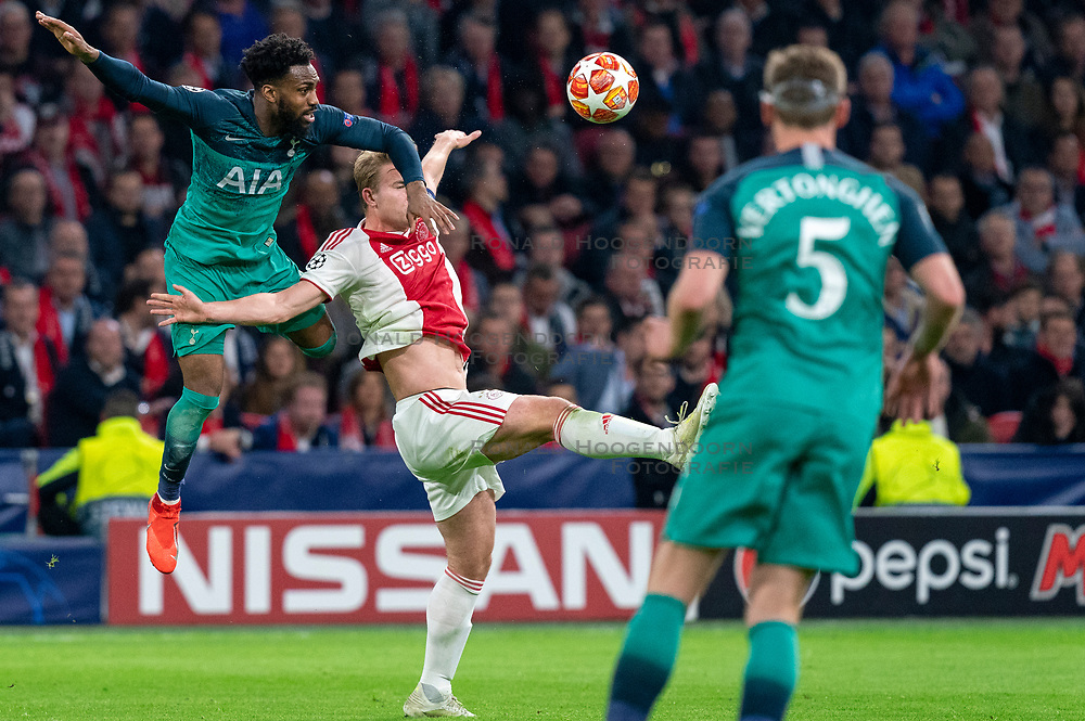 08-05-2019 NED: Semi Final Champions League AFC Ajax - Tottenham Hotspur, Amsterdam<br /> After a dramatic ending, Ajax has not been able to reach the final of the Champions League. In the final second Tottenham Hotspur scored 3-2 / Matthijs de Ligt #4 of Ajax, Danny Rose #3 of Tottenham Hotspur