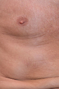 close up of a middle aged man's chest