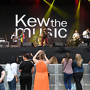 Kew The Music 2019 kicks off by Saxophonist YolanDa Brown provides support on 9 July 2019, Kew Garden, London, UK.