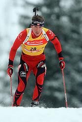 Emil Hegle Svendsen (NOR) at Men 20 km Individual at E.ON Ruhrgas IBU World Cup Biathlon in Hochfilzen (replacement Pokljuka), on December 18, 2008, in Hochfilzen, Austria. (Photo by Vid Ponikvar / Sportida)