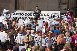 "Royal Courts of Justice, London,  August 31st 2014. Quilliam Foundation leader Maajid Nawaz speaks out against religious intolerance as thousands of Jews and their supporters from London and across the UK demand ""Zero Tolerance for Antisemites"", organised by the Campaign Against Antisemitism."