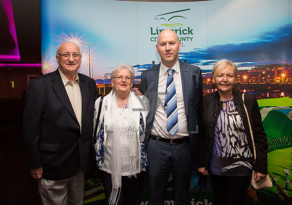 11.10.2016         <br /> Pictured at the Grand Final of the Limerick Going for Gold 2016 Awards were, Pat and Jean O'Brien, Woodlawn Tidy Towns, Gordon Daly, Director of Services Limerick City and County Council and Helen Ryan, Woodlawn Tidy Towns. Picture: Alan Place