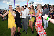 POSY BRINDLEY; ? TYRONE WOOD; ALICE BRINKLEY; ROSIE EGAN, After party at China White's club. Cartier International Day at Guard Polo Club, Windsor Great Park. 24 July 2011. ChinaWhite Tent during Cartier Polo. <br /> <br />  , -DO NOT ARCHIVE-© Copyright Photograph by Dafydd Jones. 248 Clapham Rd. London SW9 0PZ. Tel 0207 820 0771. www.dafjones.com.