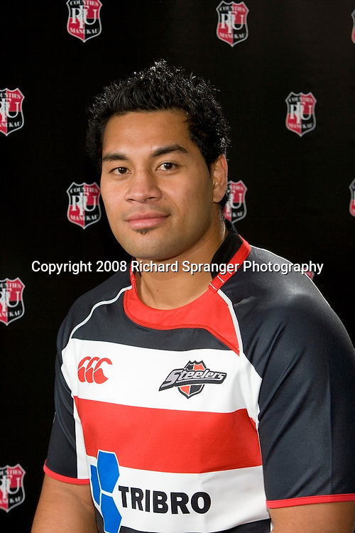 Niva Ta'auso. Counties-Manukau Steelers ANZ Cup Rugby headshots 2008. Photo: Richard Spranger Photography/PHOTOSPORT