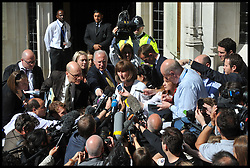 Gareth Peirce (C), a lawyer representing Wikileaks founder Julian Assange, addresses the media outside the UK Supreme Court following Mr Assange's loss of his extradition appeal on May 30, 2012 in London, England. The Supreme Court's president Lord Phillips explained that the judgement against Mr Assange's appeal against his extradition to Sweden to face accusations of sex offences, was reached by a majority of five to two. Photo By Andrew Parsons/i-Images.Supporters for the  Wikileaks founder Julian Assange outside the UK Supreme Court following Mr Assange's loss of his extradition appeal on May 30, 2012 in London, England. The Supreme Court's president Lord Phillips explained that the judgement against Mr Assange's appeal against his extradition to Sweden to face accusations of sex offences, was reached by a majority of five to two. Photo By Andrew Parsons/i-Images.