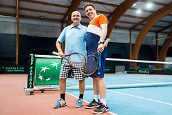 Saso Svoljsak and Vid Ponikvar after the Davis Cup Slovenia vs Monaco competition, on February 4, 2017 in Tennis Arena Tabor, Maribor Slovenia. Photo by Vid Ponikvar / Sportida
