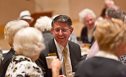 President Thomas Krise at the Golden Club Brunch in Mary Baker Russell for Homecoming 2014 at PLU on Sunday, Oct. 5, 2014. (PLU Photo/John Froschauer)