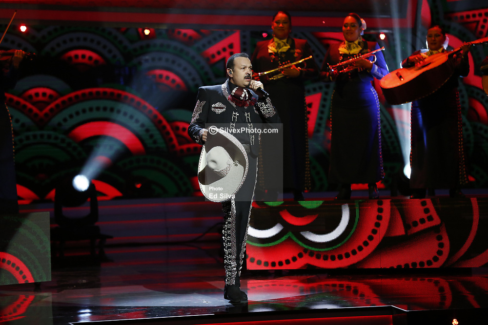 LOS ANGELES, CA - JULY 15: Pepe Aguilar and 10 year old daughter Angela Aguilar perfom live on stage at Univision Deportes' Balon De Oro 2017 Awards at The Orpheum Theatre in Los Angeles, California on July 15, 2017 in Los Angeles, California. Byline, credit, TV usage, web usage or linkback must read SILVEXPHOTO.COM. Failure to byline correctly will incur double the agreed fee. Tel: +1 714 504 6870.