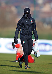 ZENICA, BOSNIA AND HERZEGOVINA - Tuesday, November 28, 2017: Wales' John Jackson before the pre-match warm-up before the FIFA Women's World Cup 2019 Qualifying Round Group 1 match between Bosnia and Herzegovina and Wales at the FF BH Football Training Centre. (Pic by David Rawcliffe/Propaganda)