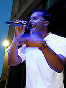 Special Ed performs during the City Parks Foundation Salute to Hip Hop event at Von King Park in Brooklyn, New York on June 18, 2014.