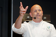 Royal Highland Show 2011. Glenn Purcell, Executive chef with Vion Foods demonstrates at the Cookery Theatre.
