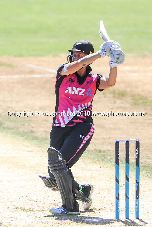 New Zealand's Sophie Devine. New Zealand White Ferns v West Indies. 3rd International Twenty20 cricket, Pukekura Park, New Plymouth New Zealand. Friday, 16 March, 2018. Copyright photo: John Cowpland / www.photosport.nz