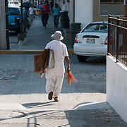 A man on the street in Puerto Vallarta, Mexico. Photo by William Drumm.