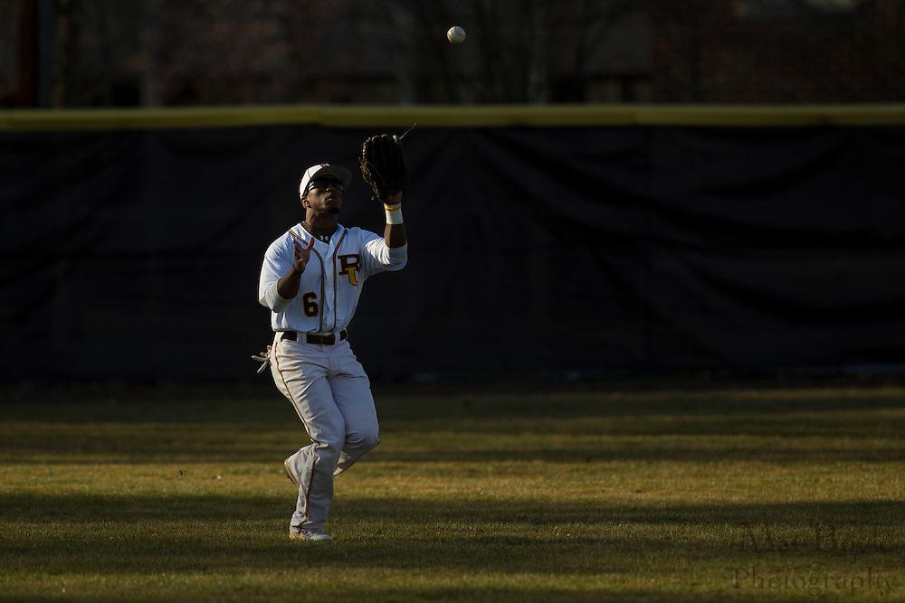 Rowan University Junior Outfielder Nate Floyd (6); Rowan University Baseball hosts John Hopkins University  on Tuesday March 6, 2012 in Glassboro, NJ. (photo / Mat Boyle)