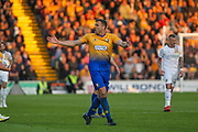 Ben Turner (25) during the EFL Sky Bet League 2 second leg Play Off match between Mansfield Town and Newport County at the One Call Stadium, Mansfield, England on 12 May 2019.