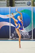 Rebecca Riccò from San Giorgio team during the Italian Rhythmic Gymnastics Championship in Padova, 25 November 2017.