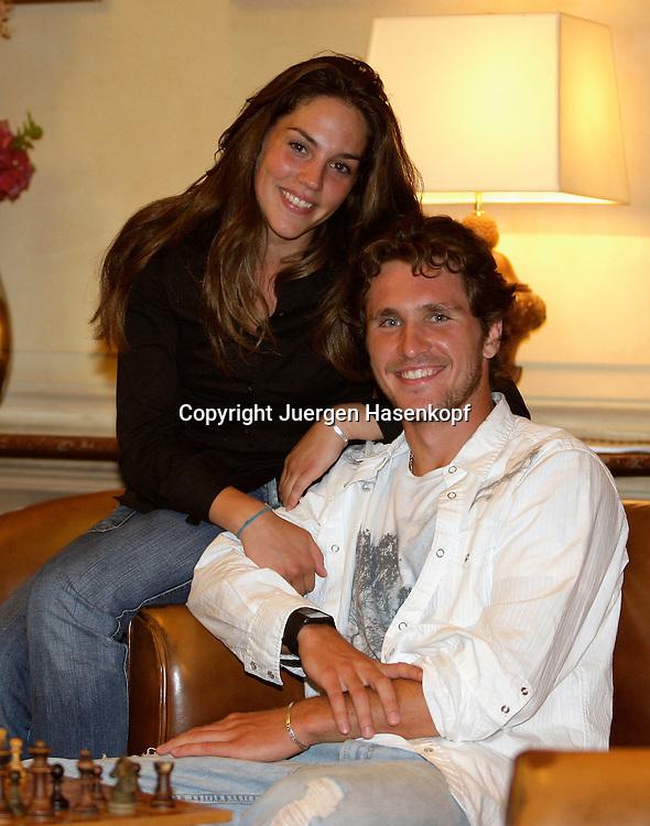 Tennis Profi Mischa Zverev (GER) und Freundin Charlene,privat