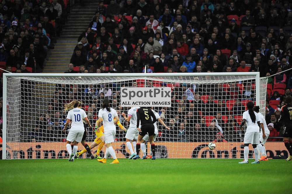 Germany Score Their First Goal at Wembley, England v Germany Ladies, Breast Cancer Care International, Wembley , Sunday 23rd November 2014