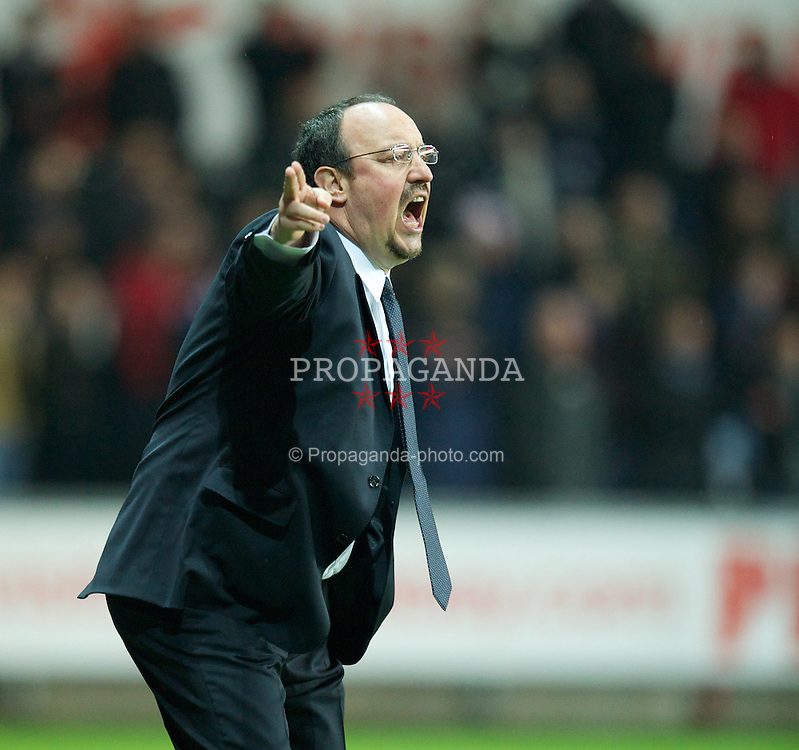 SWANSEA, WALES - Wednesday, January 23, 2013: Chelsea's manager Rafael Benitez during the Football League Cup Semi-Final 2nd Leg match against Swansea City at the Liberty Stadium. (Pic by David Rawcliffe/Propaganda)