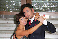 Flavia Cacace; Vincent Simone, Dance Til Dawn West End Show Season Launch, Waldorf Hilton hotel Palm Court, London UK, 15 September 2014, Photo by Richard Goldschmidt