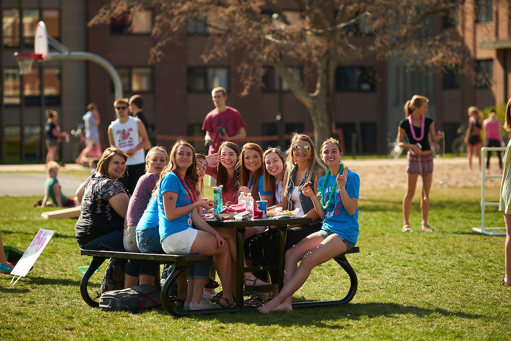 Activity; Socializing; Playing; Buildings; Eagle Hall; Location; Outside; People; Student Students; Spring; April; Time/Weather; sunny; Type of Photography; Candid; UWL UW-L UW-La Crosse University of Wisconsin-La Crosse