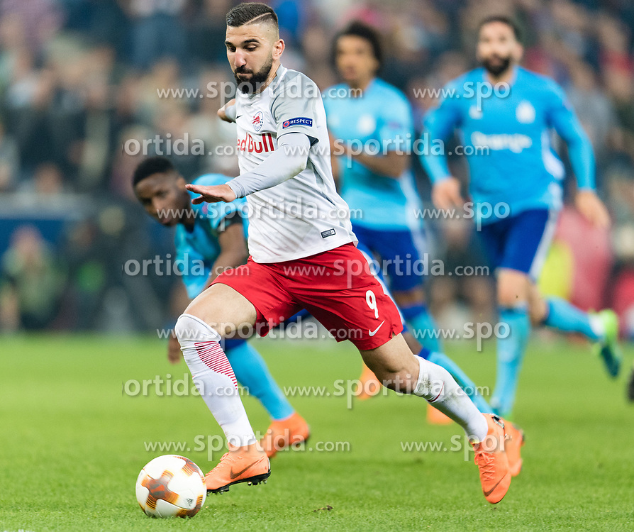 03.05.2018, Red Bull Arena, Salzburg, AUT, UEFA EL, FC Salzburg vs Olympique Marseille, Halbfinale, Rueckspiel, im Bild Munas Dabbur (FC Salzburg) // during the UEFA Europa League Semifinal, 2nd Leg Match between FC Salzburg and Olympique Marseille at the Red Bull Arena in Salzburg, Austria on 2018/05/03. EXPA Pictures © 2018, PhotoCredit: EXPA/ Stefan Adelsberger
