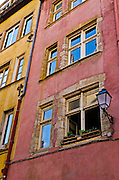Colorful houses in old town Vieux Lyon, France (UNESCO World Heritage Site)