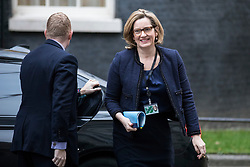 © Licensed to London News Pictures. 05/12/2017. London, UK. Home Secretary Amber Rudd arrives on Downing Street for the weekly Cabinet meeting. Photo credit: Rob Pinney/LNP