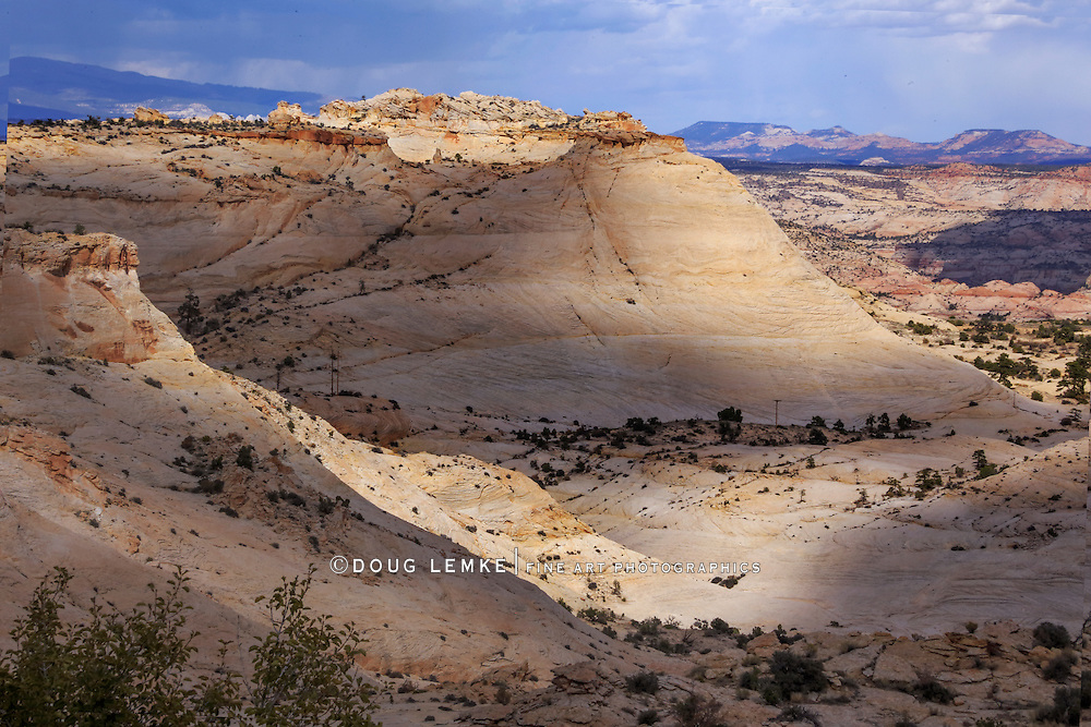 Petrified Sand Dunes in The Grand Staircase Escalante region of Utah in Autumn, USA