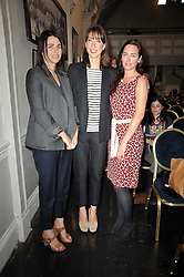 Left to right, sisters , EMILY SHEFFIELD, SAMANTHA CAMERON and ALICE SHEFFIELD at The Special Yoga Centre's annual art auction held at the 20th Century Theatre, 291 Westbourne Grove, London W11 on 16th May 2011.