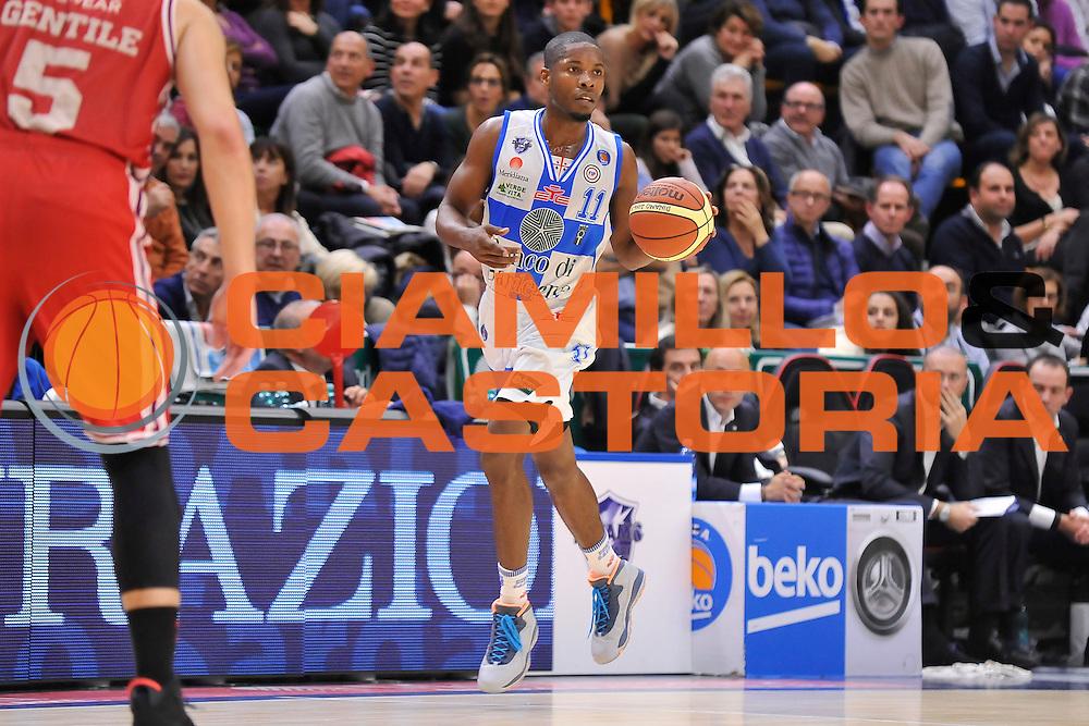 DESCRIZIONE : Campionato 2014/15 Dinamo Banco di Sardegna Sassari - Olimpia EA7 Emporio Armani Milano<br /> GIOCATORE : Jerome Dyson<br /> CATEGORIA : Palleggio<br /> SQUADRA : Dinamo Banco di Sardegna Sassari<br /> EVENTO : LegaBasket Serie A Beko 2014/2015<br /> GARA : Dinamo Banco di Sardegna Sassari - Olimpia EA7 Emporio Armani Milano<br /> DATA : 07/12/2014<br /> SPORT : Pallacanestro <br /> AUTORE : Agenzia Ciamillo-Castoria / Claudio Atzori<br /> Galleria : LegaBasket Serie A Beko 2014/2015<br /> Fotonotizia : Campionato 2014/15 Dinamo Banco di Sardegna Sassari - Olimpia EA7 Emporio Armani Milano<br /> Predefinita :