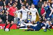Leeds United midfielder Pablo Hernandez (19) and Huddersfield Town midfielder Trevoh Chalobah (8) in action during the EFL Sky Bet Championship match between Leeds United and Huddersfield Town at Elland Road, Leeds, England on 7 March 2020.