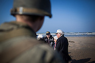 Veterans walks on  Utah beach for the 69th anniversary of the D Day